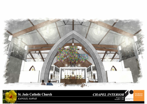 The chapel is located immediately behind the church and shares the same sacntuary platform and tabernacle, separated acoustically and a glass wall.